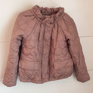 Crewcuts Girls Taupe Quilted Jacket